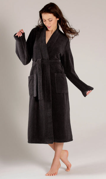 Black Terry Cloth Robe %100 Natural Cotton, Terry Cloth Robes