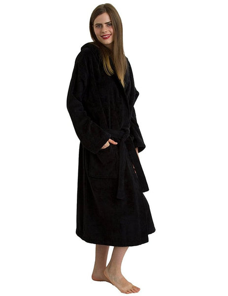 Personalized Hotel Spa Robe Wholesale - Black, Terry Cloth Robes