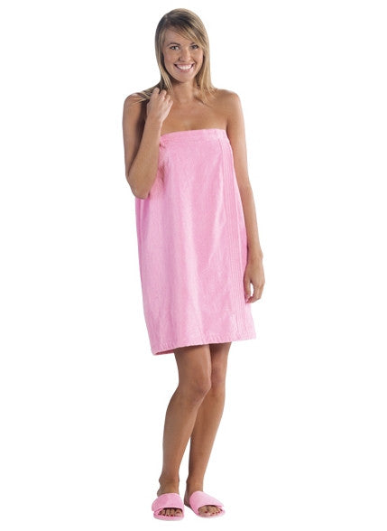 Bridesmaids Gift Customized Terry Cloth Spa Wrap - Pink