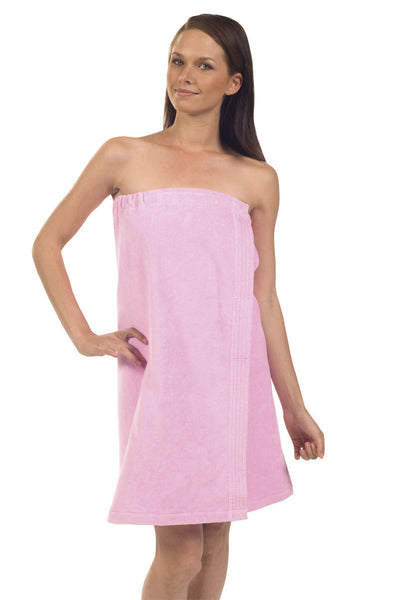 Bridesmaids Gift Customized Terry Cloth Spa Wrap - Pink, Bath Wraps
