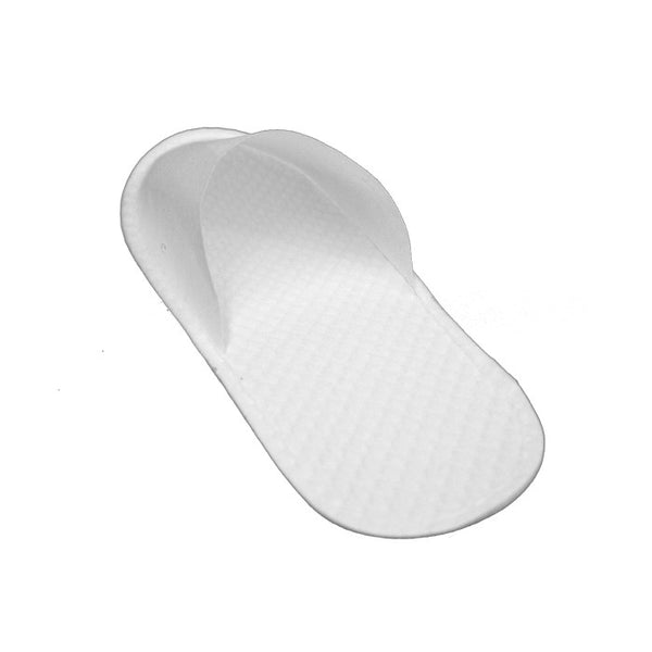 Disposable Wholesale Closed Toe Spa Slippers Cheap- 12 Pairs -  White, Slippers