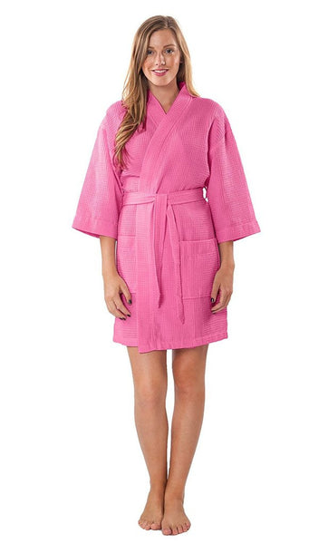 Matching Bridal Party Robe - Hot Pink, Terry Cloth Robes