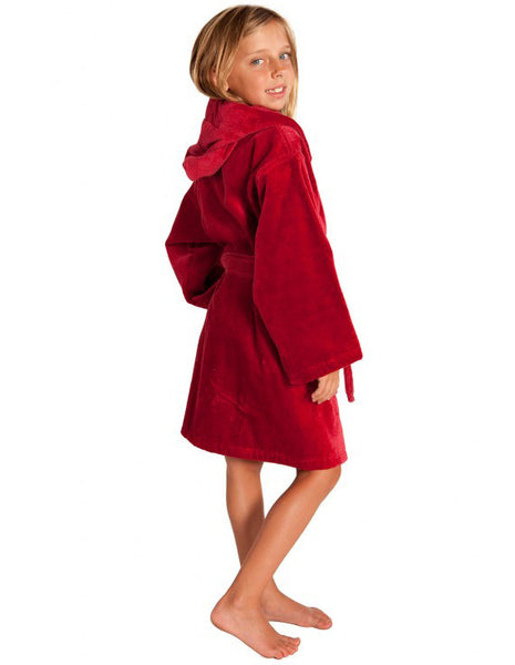 Hooded Terry Cloth Robes for Kids Personalized- Burgundy, Kid's Robe