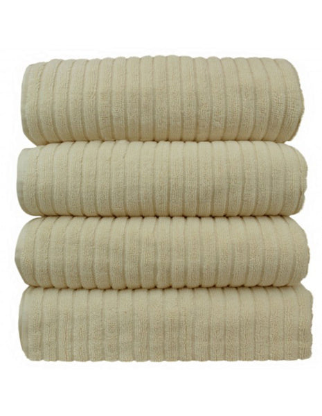 Hotel & Spa Towel 100% Premium Turkish Cotton Bath Towels - Beige - Set of 4, Bath Towels