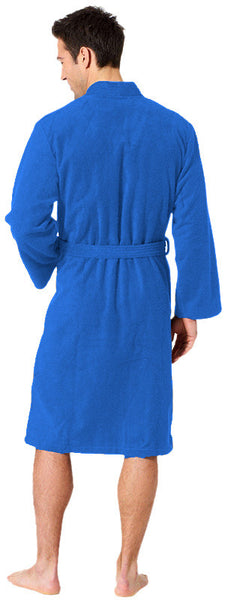 Lightweight Long Kimono Men's Terry Towel Robe - Royal Blue, Terry Cloth Robes