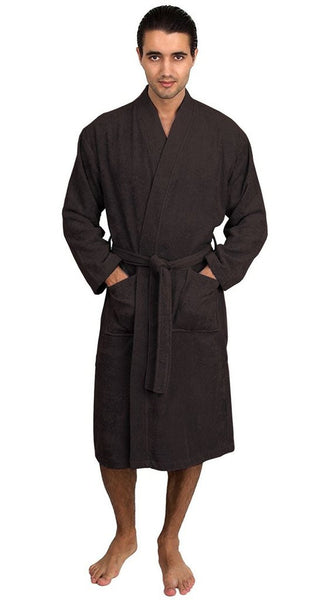 Cotton Plush Spa Bathrobe for Party - Black, Terry Cloth Robes