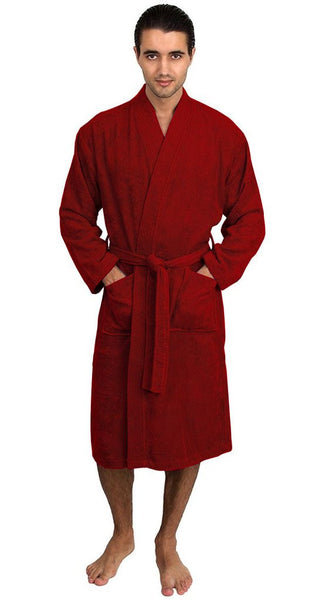 Terry Cloth Spa Robe Monogrammed - Burgundy, Terry Cloth Robes