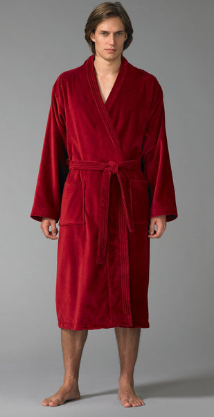 Men's Personalized Terry Cloth Bathrobe - Burgundy