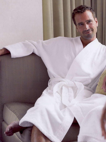 Wholesale Kimono Customizable Hotel Robe - White, Terry Cloth Robes