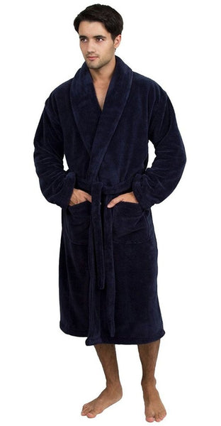 Premium Quality 5-Star Hotel & Spa Bathrobe - Navy Blue, Spa/Hotel Robes