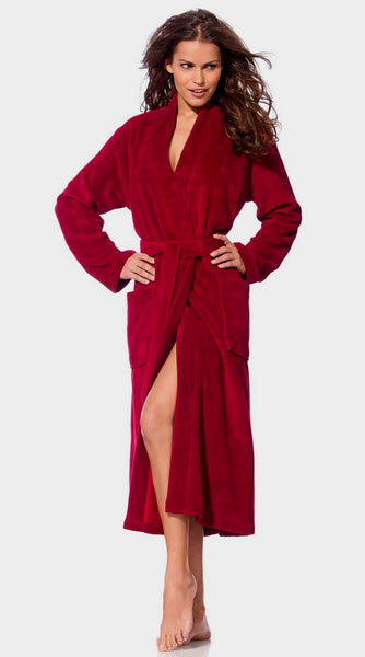 Monogrammed Terry Cloth Robe for Women - Burgundy, Terry Cloth Robes