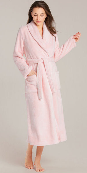 Premium Super Soft Microfiber Fleece Pink Robe, Fleece Robes