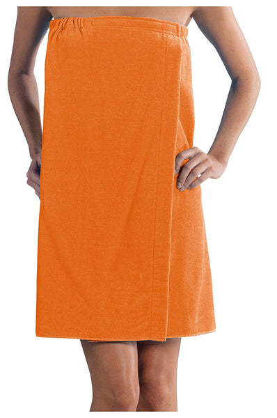 Wholesale Secure Fit Wrap Around Bath Towel - Orange, Bath Wraps