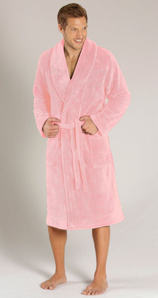 Super Absorbent & Soft Touch Shawl Collar Terry Robe - Pink,