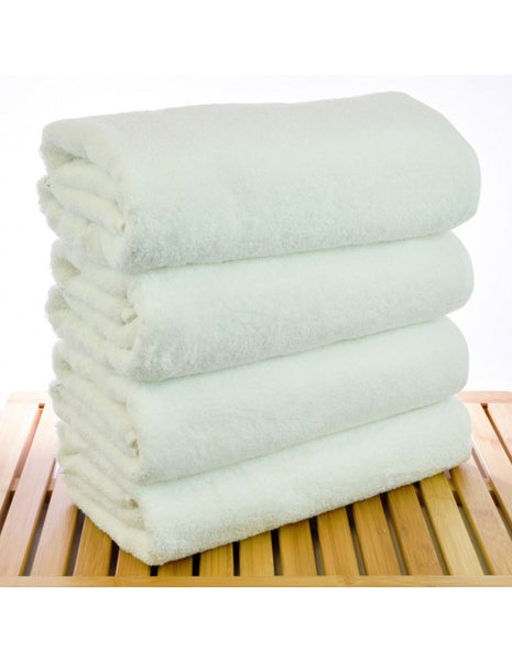 Turkish Bath Towels in 5-Star Hotel/Spa Quality - White - Set of 4, Bath Towels