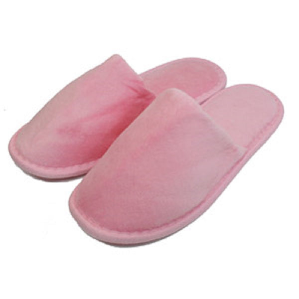 Wholesale Cotton Terry Velour Indoor House Spa Hotel Slippers - Pink, Slippers