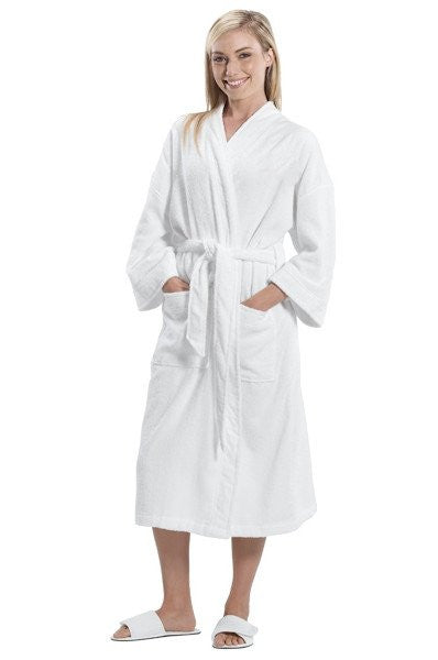 %100 Cotton Wholesale Loop Terry Kimono Robe, Terry Cloth Robes