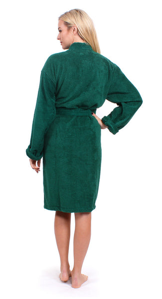 Women's Terry Cloth Robe Kimono Style - Green, Terry Cloth Robes