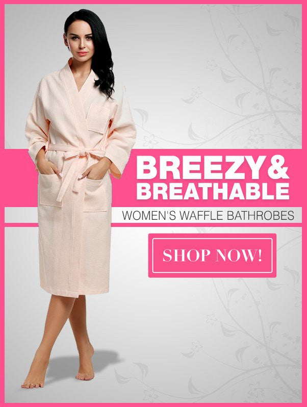Wholesale Women's Waffle Bathrobes