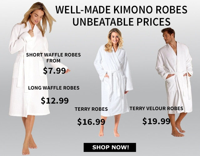 CLEARANCE - SAVE UP TO 70% OFF BATHROBES, TOWELS & SLIPPERS