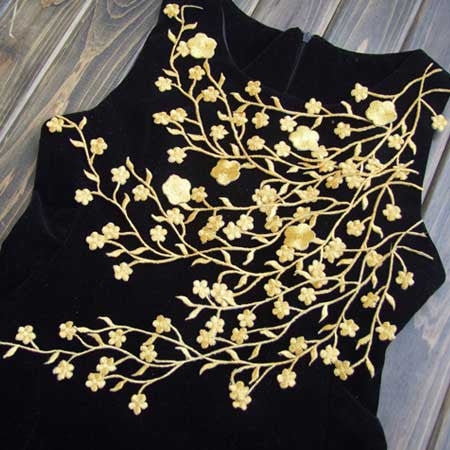 Beautiful Flower Applique (DIY) - 2pc, Gold or Silver
