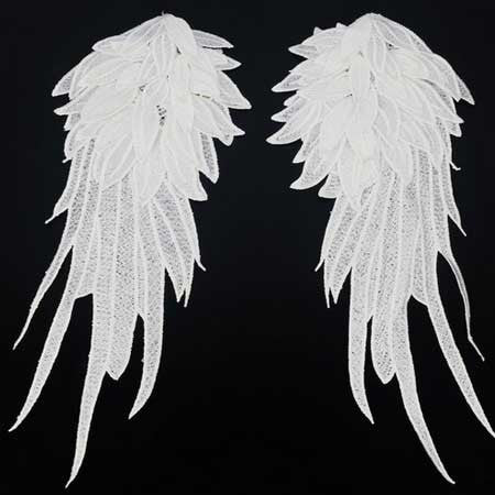 Beautiful Lace Applique Wings - 2 Sizes