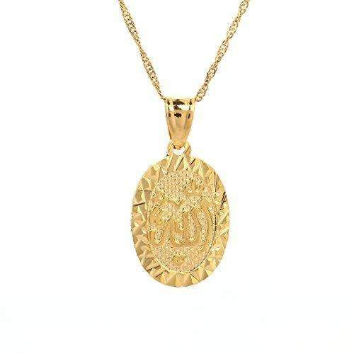 Cheap gold islamic arabic script allah pendant necklace gold islamic arabic script allah pendant necklace aloadofball Images