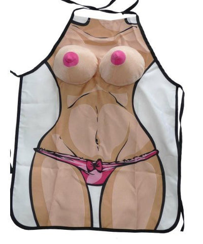Naked Lady Kitchen Apron