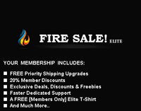 Fire Sale Elite Membership - 20% Member Discount & FREE Priority Shipping For Life!