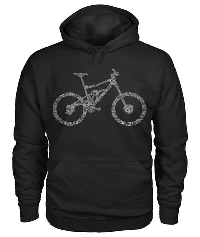 Bicycling Word Art Hoodie