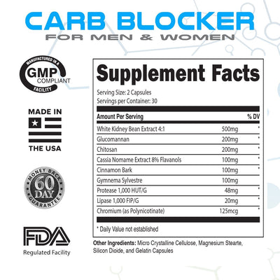 LMNITRIX CARB BLOCKER ✮ Carb Blocking Supplement ✮ Men & Women ✮ 60 ct