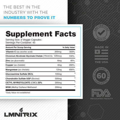 LMNITRIX JOINT SUPPORT ✮ Joint Repair Supplement ✮ Men & Women ✮ 90 ct
