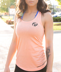 Emblem Scoop Tank - Orange Sherbet