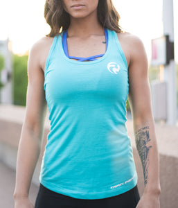 Emblem Scoop Tank - Teal