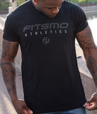 FitsMo Athletics Tee - Black/Carbon
