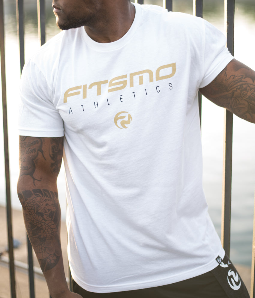 FitsMo Athletics Tee - White/Gold