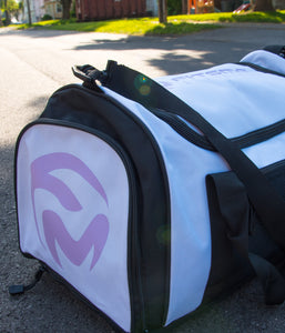 FitsMo Sports Bag - White/Lilac