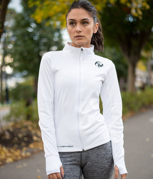 Women's Training Jacket - White/Black