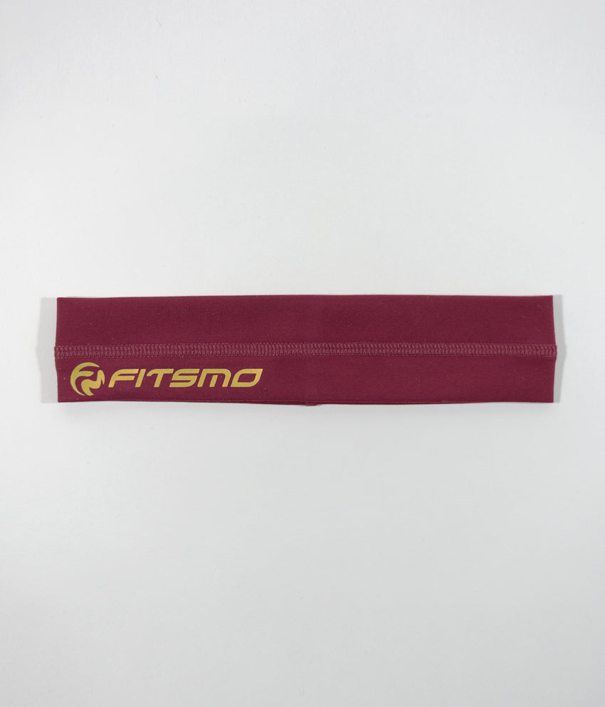 Sport Headband - Wine/Gold