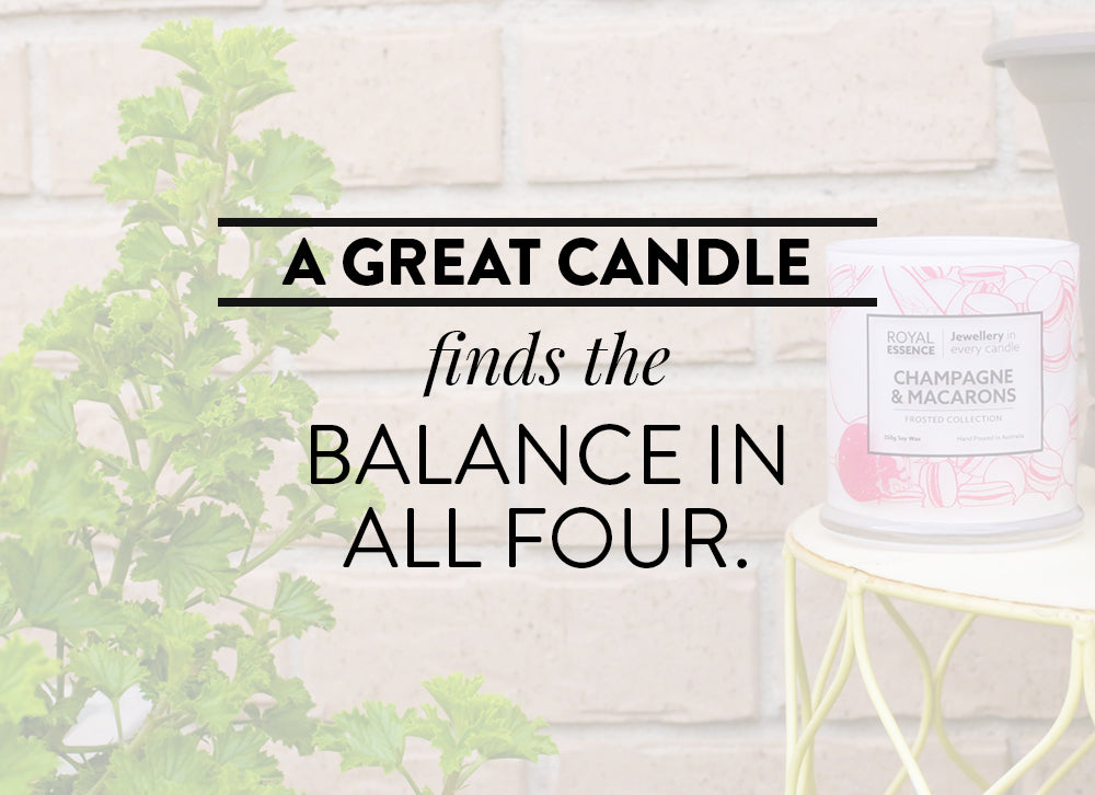 A great candle find the balance in all four.