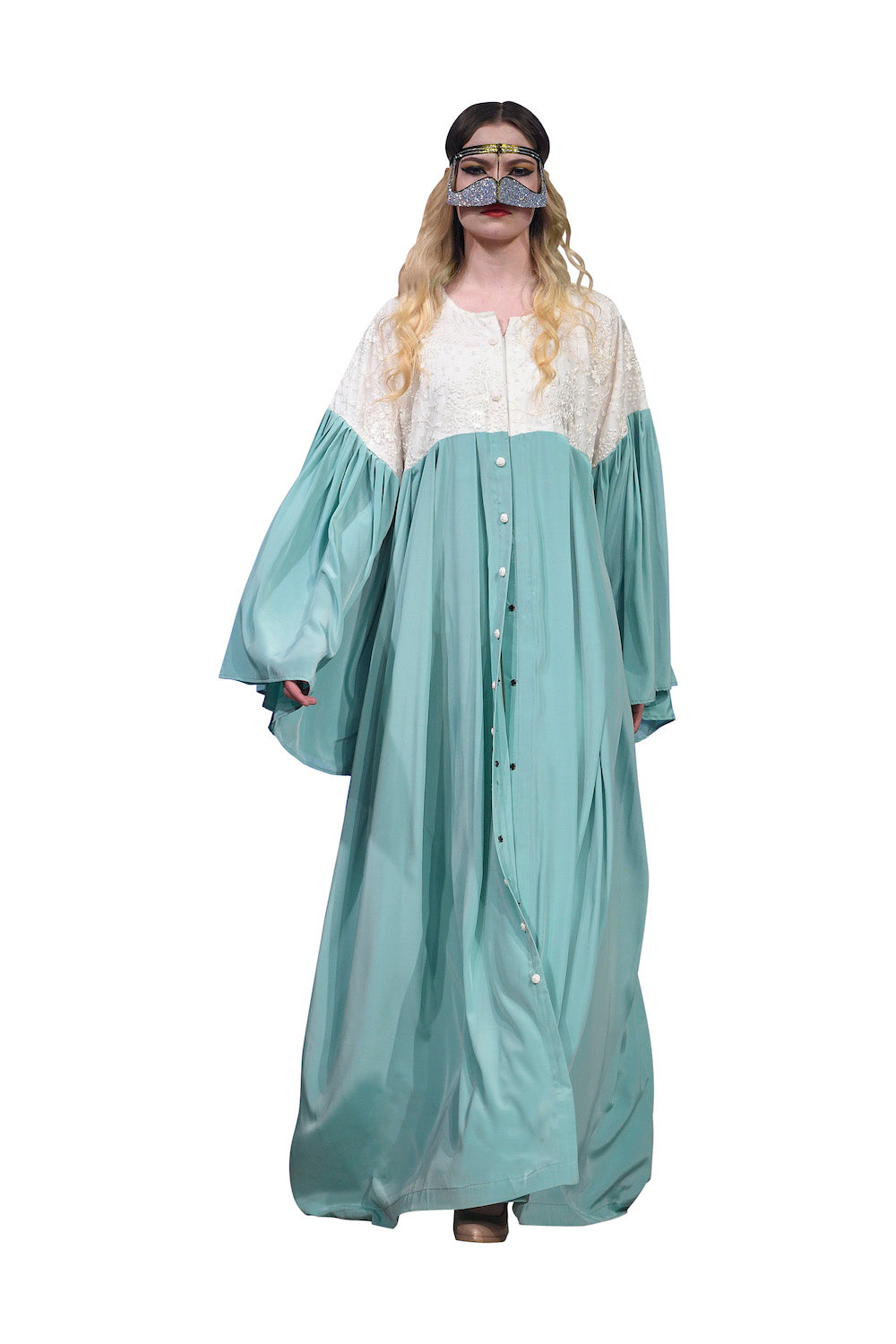 Sea Green Abaya
