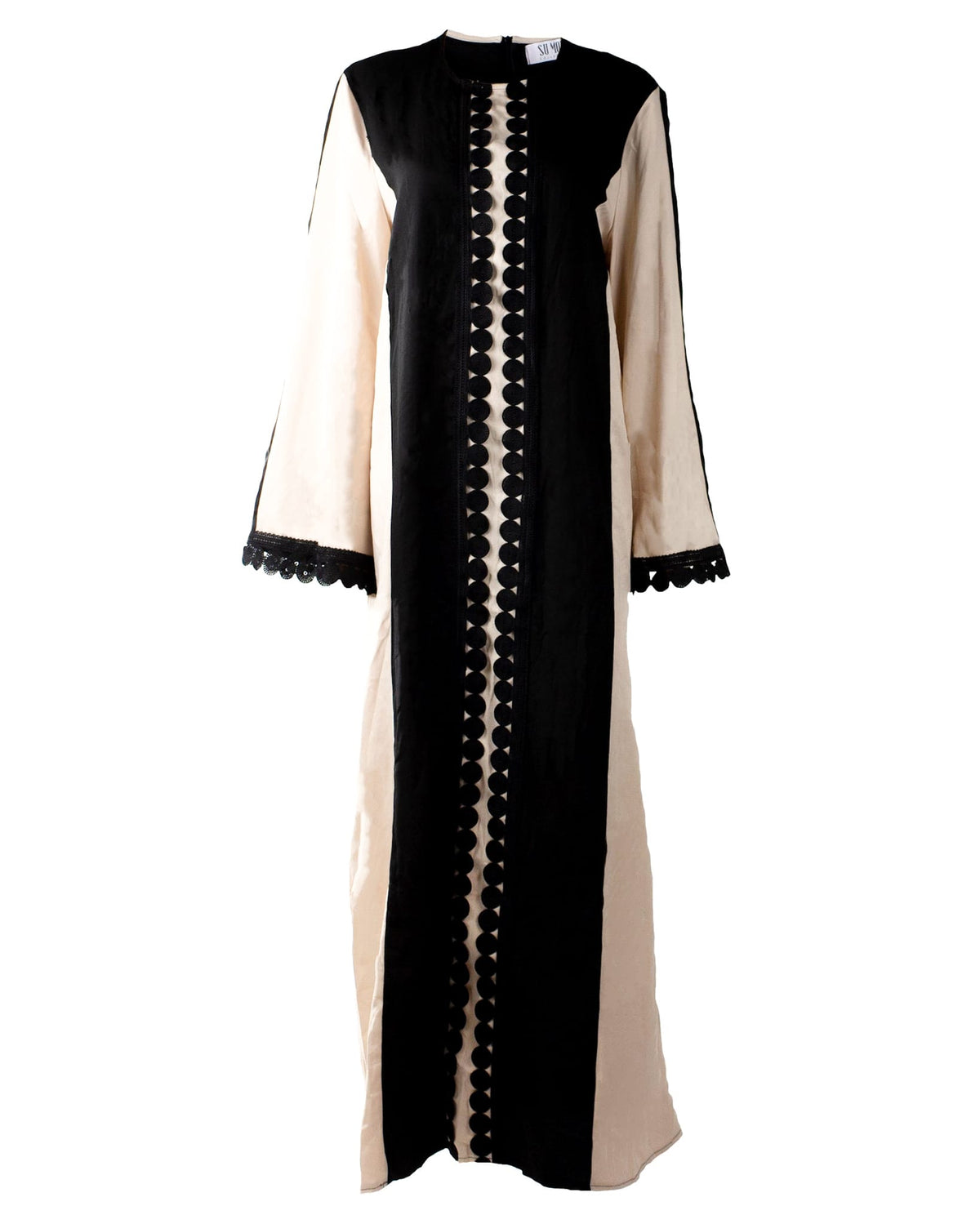 Black-Beige Abaya Dress