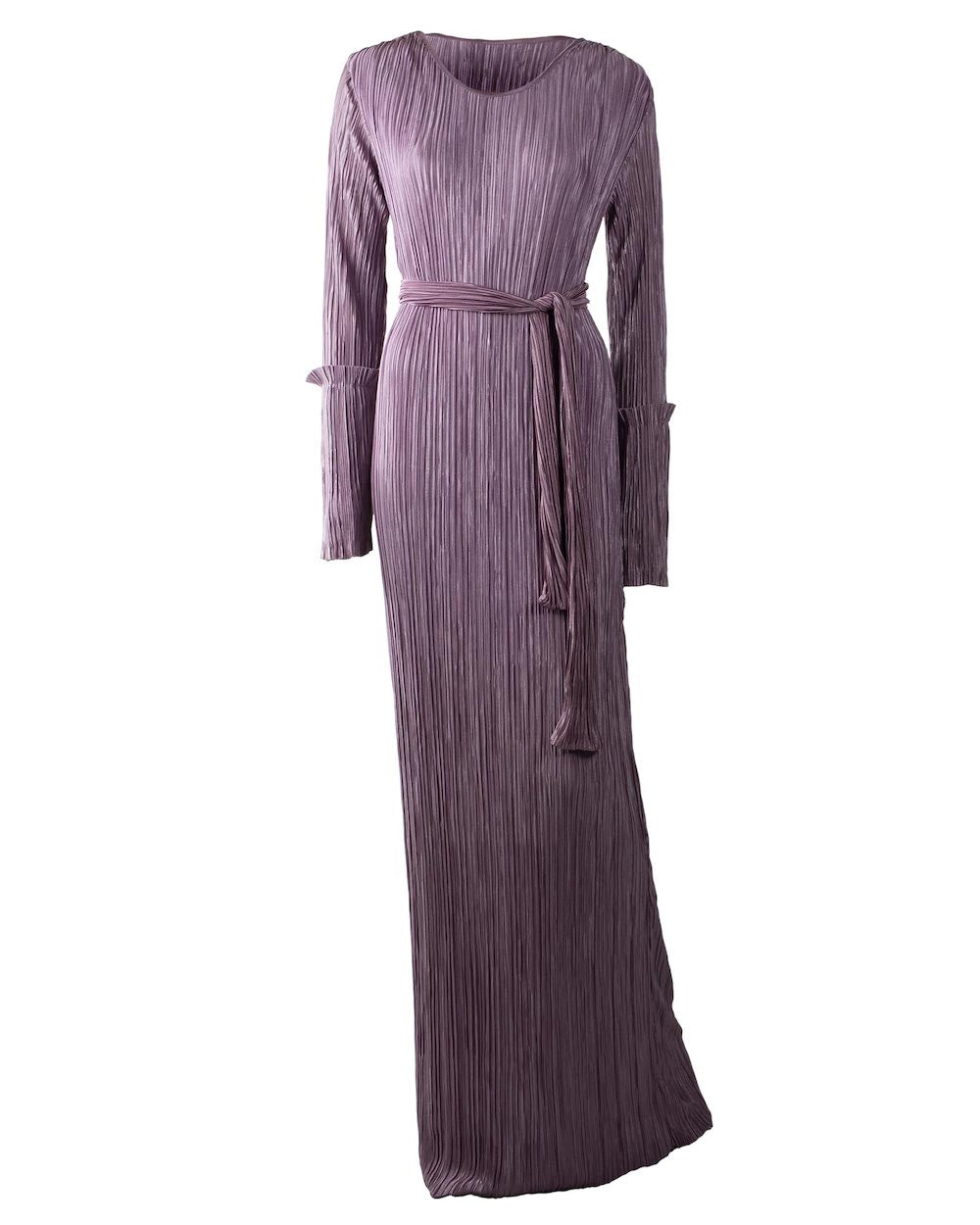 Purple Pleated Dress Abaya