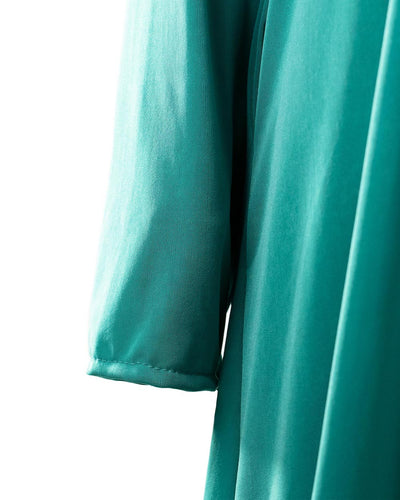 Green Pearls Jersey Abaya Dress