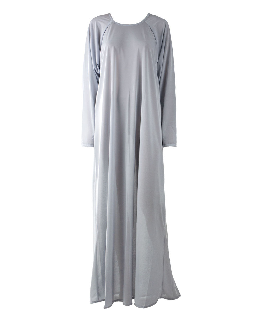 Grey Jersey Slipper Abaya