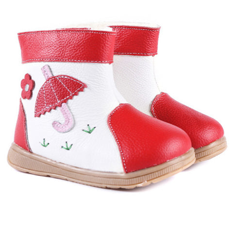 Raindrops in Crimson - Toddler & Children Shoes - Ankle-Biters - 1