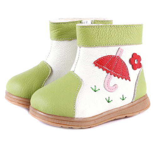 Raindrops in Lime - Toddler & Children Shoes - Ankle-Biters - 1