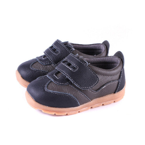 Leather Sprint in Brown - Toddler & Children Shoes - Ankle-Biters - 1