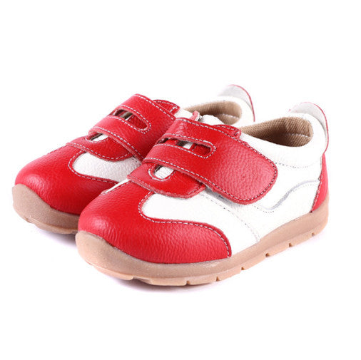 Leather Sprint in Red - Toddler & Children Shoes - Ankle-Biters - 1
