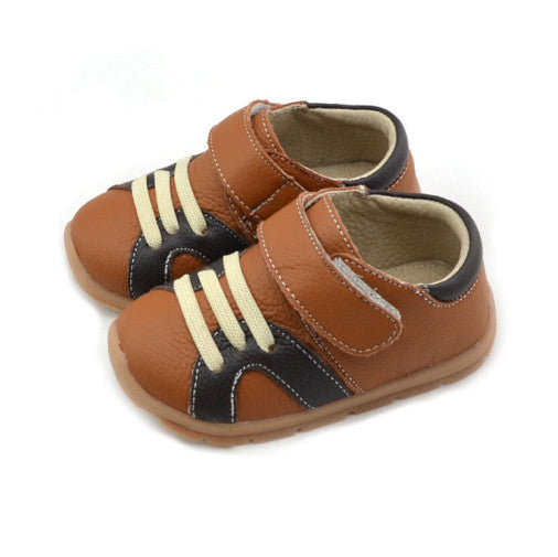 Casual Leathers in Tan - Toddler & Children Shoes - Ankle-Biters - 1